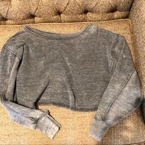 Free People Batwing crop cozy sweatshirt